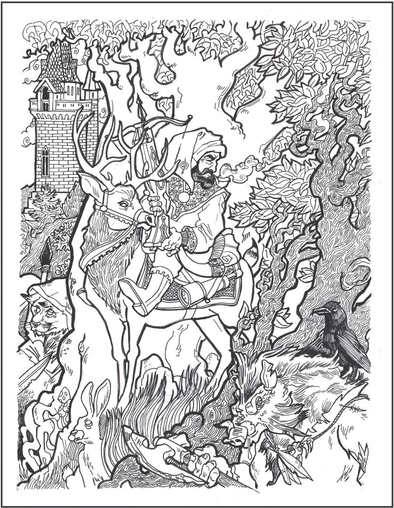 Carver Coloring Page